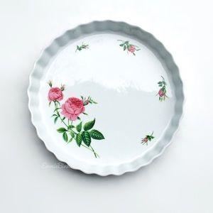 Vintage 80's Porcelain CHRISTINEHOLM Tart Tray